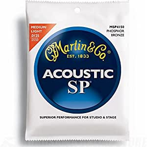 Martin MSP4150 SP Phosphor Bronze Acoustic Guitar Strings, Light/Medium
