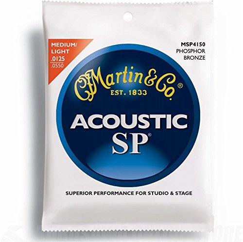 (Martin MSP4150 SP Phosphor Bronze Acoustic Guitar Strings, Light/Medium)