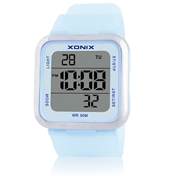 Niños ver niña niño estudiante impermeable led reloj digital-A: Amazon.es: Relojes