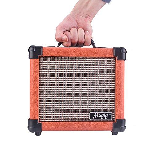 mugig guitar amplifier with handle portable amplifier for electric guitar 10w combo guitar amp. Black Bedroom Furniture Sets. Home Design Ideas