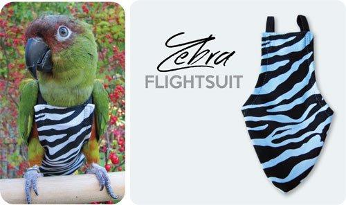 Caged Roll Cages - Wide FlightSuit (Bird Diaper) w/AnchorLine plus Flightliners (Zebra)