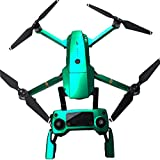 PeleusTech® Fluorescence Stickers Full Set for DJI Mavic Pro Drone Skins Decals Remote Controller Waterproof Stickers - (Emerald Green)