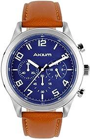 Relógio Akium Masculino Couro Marrom - 03K75GL01C
