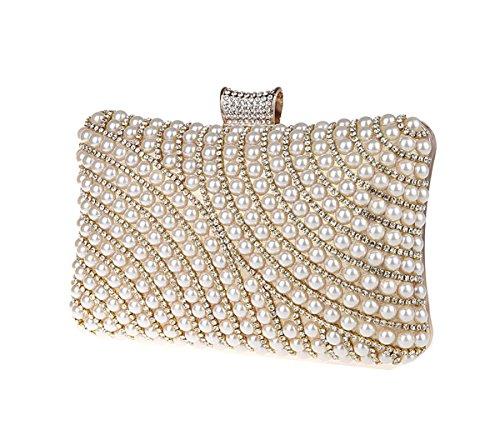 Bag Pearl Luxury Silver Rhinestones Bags Evening KAXIDY Purses Gold Clutch Designer Handbag Imitation Ladies vBxwntqTF