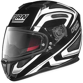 Nolan N-86 Overtaking Non N-Com Helmet , Distinct Name: Black/White, Gender: Mens/Unisex, Helmet Category: Street, Helmet Type: Full-face Helmets, Primary Color: Black, Size: Sm N8R5277930345