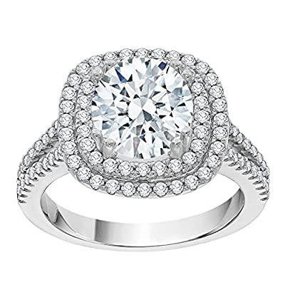 Diamond Halo Engagement Ring in 14K Gold (2 5/8 cttw) (GH Color, I2-I3 Clarity)