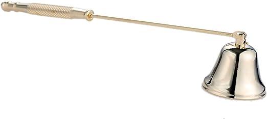 MUXSAM Mecha de acero inoxidable con mango largo en forma de campana color bronce envejecido para apagar el fuego