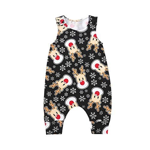 Doric Baby Boys Girls Deer Print Sleeveless Romper Clothes
