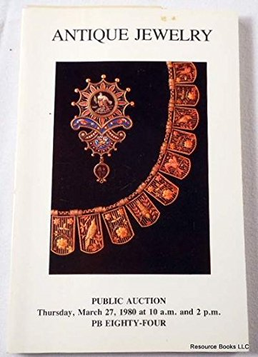 Antique Jewelry - Sale 748. New York: March 27, 1980