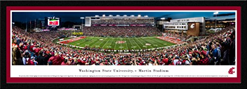 Washington State Football - 50 Yard - Blakeway Panoramas College Sports Posters with Select Frame