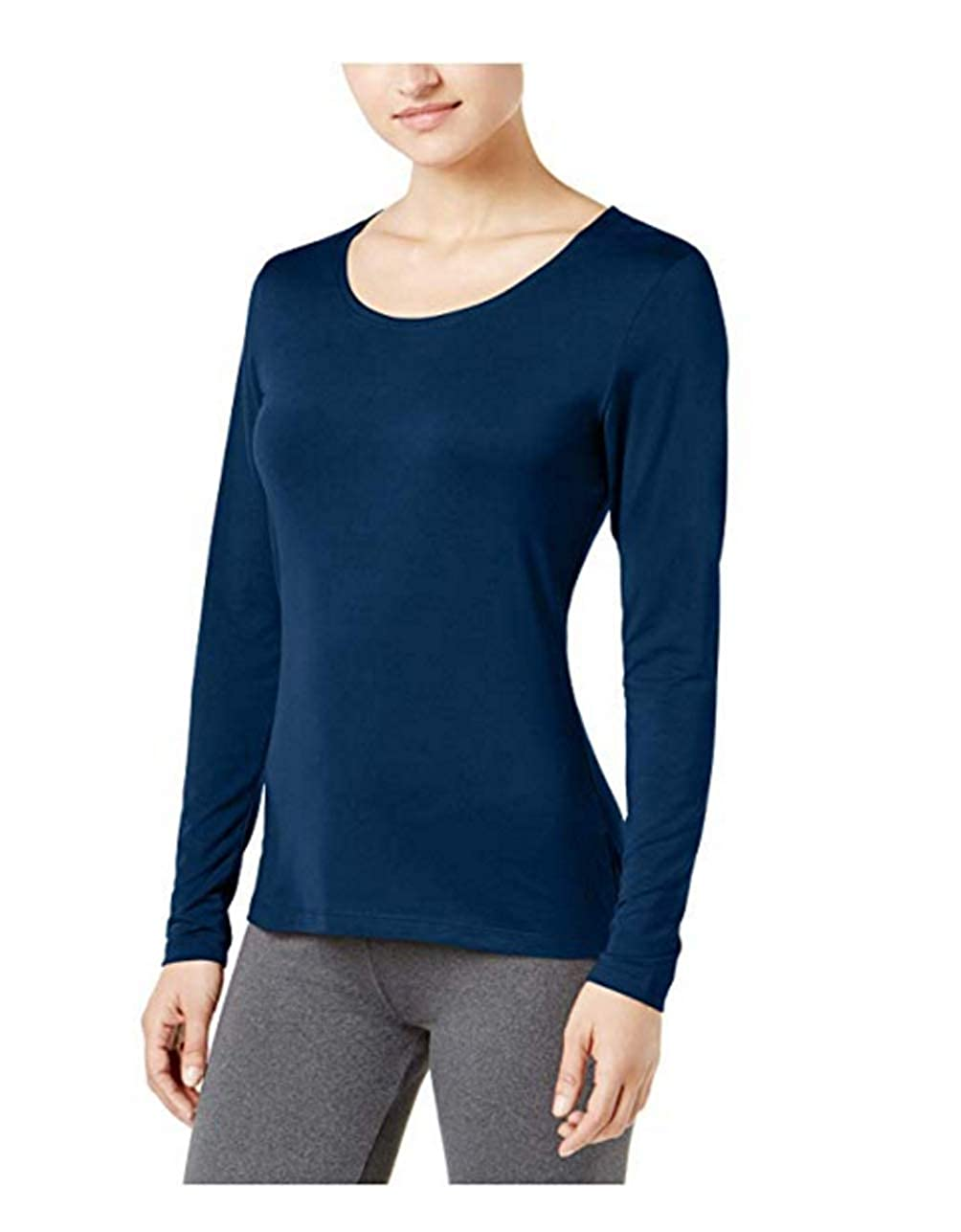 Stormy Night Large 32 Degrees Womens Cozy Heat Long-Sleeve Top