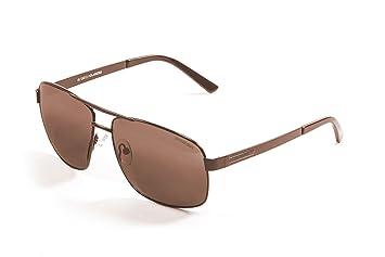 Ocean Sunglasses 19700.1 - Londres - lunettes de soleil en Métal - Monture : Marron Mat - Verres : Fumée eeNF78J