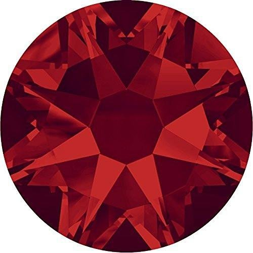 (2000, 2058 & 2088 Swarovski Flatback Crystals Non Hotfix Light Siam | SS9 (2.6mm) - Pack of 1440 (Wholesale) | Small & Wholesale Packs | Free Delivery)