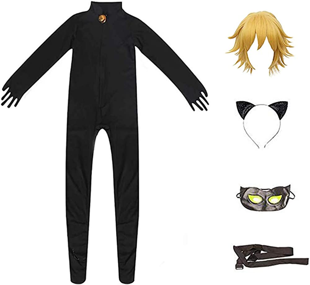 Cat Noir Costume Jumpsuits Set Cosplay Ladybug Marinette Costume Party Clothes