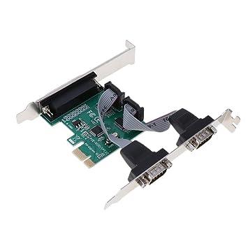 KESOTO PCI-E A 2 Puertos Serie DB9 RS232 + 1 Tarjeta De ...