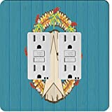 Rikki Knight 8763 Gfidouble Northern Mariana Islands Flag On Distressed Wood Design Light Switch Plate