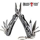 Best Skeleton Mini Multi-Tool 11-in-1 with Knife and Pliers - Utility Tool, Good for Camping, Hunting, Survival, Hiking and Outdoor Activities