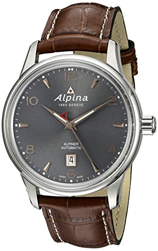 Alpina-Mens-AL-525VG4E6-Alpiner-Analog-Display-Automatic-Self-Wind-Brown-Watch