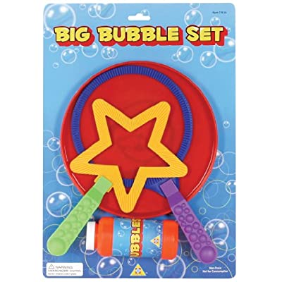 Toysmith Big Bubble Wand Set: Toys & Games