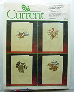 current critters counted cross stitch christmas cards 6896 4 set of 4 inc current amazoncom books - Current Christmas Cards