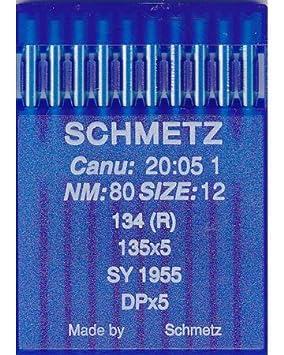SCHMETZ DPX5 NM:120  SIZE:19 INDUSTRIAL SEWING MACHINE REGULAR POINT NEEDLES