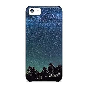Tpu Shockproof/dirt-proof Starry Galactic Sky Cover Case For Iphone(5c)