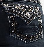 Miss Me Women's Carnival Lights Embellished Back Flap Bootcut Jeans Denim 27