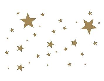 Timalo 50 Stuck Selbstklebende Sterne 70016 Fenstedekoration Weihnachten Fensterbild Aufkleber Wandtattoo Fahrradaufkleber Autoaufkleber