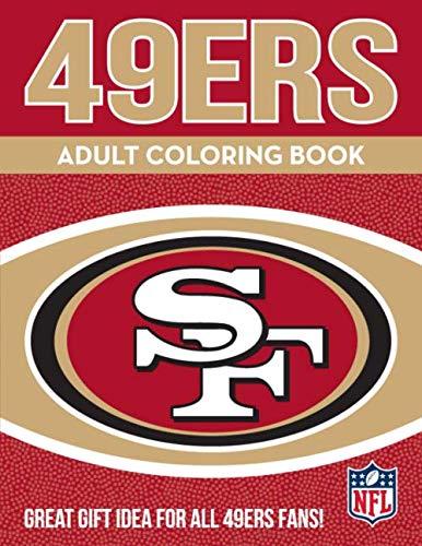 NFL San Francisco 49Ers Adult Coloring Booknfl Adult Coloring Book, Red, Gold, 96 Coloring Pages (Best Family Activities In San Francisco)