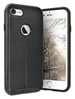 "iPhone 7 Case, Vena [vAllure] Wave Texture [Bumper Frame][CornerGuard ShockProof | Strong Grip] Slim Hybrid Cover for iPhone 7 (4.7"") (Space Black/"