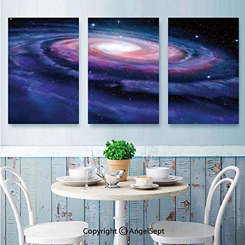 AngelSept Canvas Prints Wall Art,Nebula in Outer Space Spiral Stardust Mist Cloud of Dust Planetarium Astronomy Art,for Home Decor,16