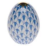 Herend Miniature Egg Blue Fishnet