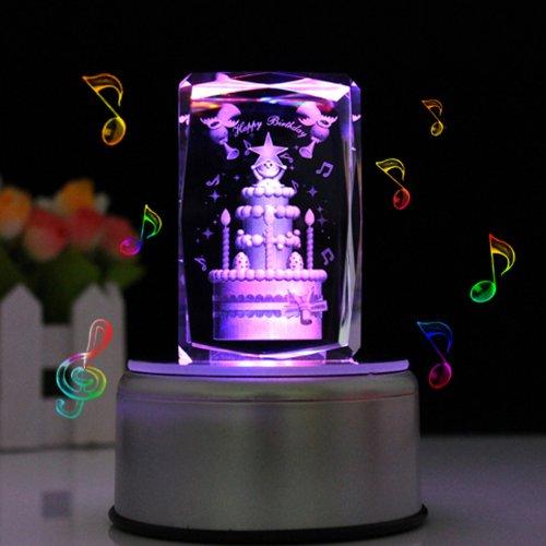 最新人気 LIWUYOU Music Engraveクリスタル3dローズフラワーカラフルなLEDライト回転音楽ボックス Custom Music Base LWY003694ZH3414 B0155WIUQ8 LWY003694ZH3414 Large cake Music Music Base Music Base|Large cake, e-TATSUYA:b6068b0d --- arcego.dominiotemporario.com