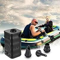 Zacro 6000mAh Aire Bomba Portable Eléctrica para Inflables y Deflación Rápida,Electrificado por USB o 12V Salida del Vehículo,3 Boquillas para Inflar ...