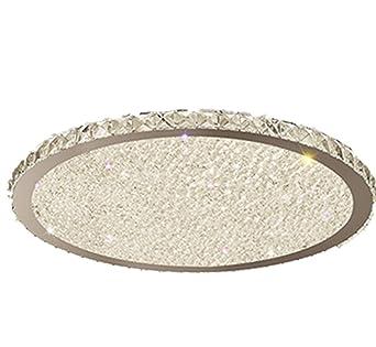 Luz de techo led lámpara de cristal de atenuación no polo simple ...