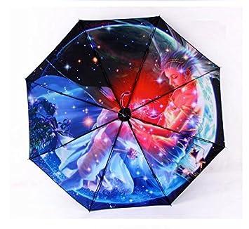 YUSAN® Paraguas 12 constelaciones termal impresión sol sombrilla paraguas regalo plegable sombrilla , scorpio