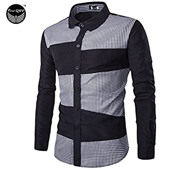 2624f242 Men Swag Camo Shirts Military Button Down Collar Shirt Male Long Sleeve  Cotton Army Print Pattern Vintage Antique Style: Amazon.in: Clothing &  Accessories