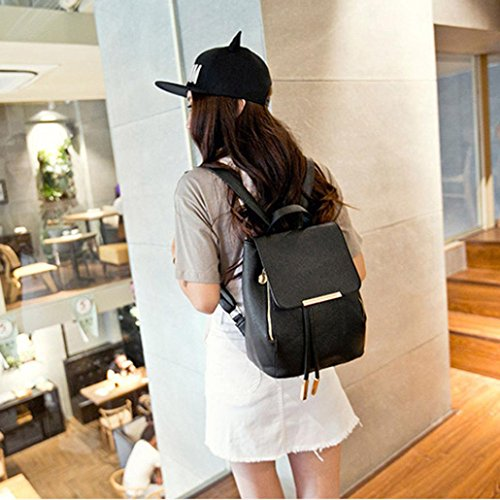 Fashion Girls Travel Rucksack Bag Ladies Shoulder Bag Leather PU Backpack Women WqqTpPRw