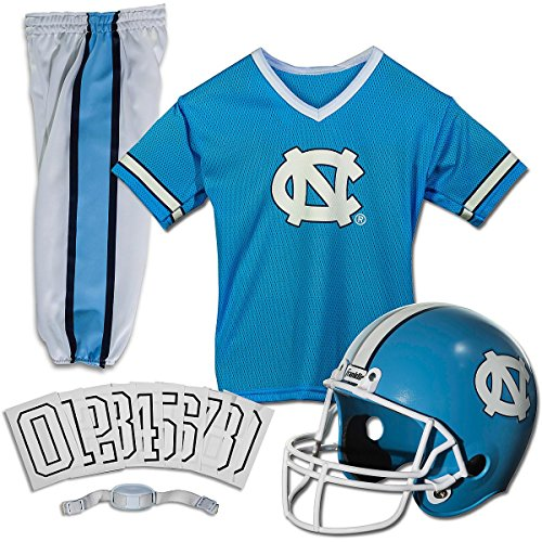 Franklin Sports North Carolina Deluxe Uniform Set - Small (Set Youth Football Franklin Uniform)
