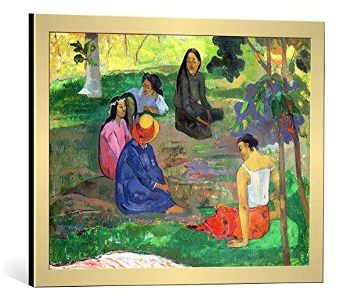 kunst für alle Framed Art Print: Paul Gauguin Les Parau Parau or Conversation 1891