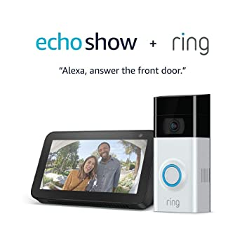 Amazon Com Ring Video Doorbell 2 With Echo Show 5 Charcoal
