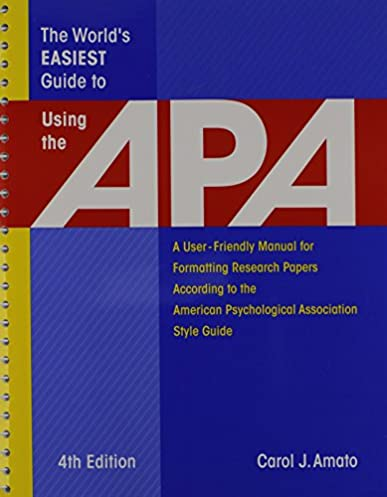 amazon com the world s easiest guide to using the apa a user rh amazon com APA Style Template Word 2010 APA Style Template Word 2010