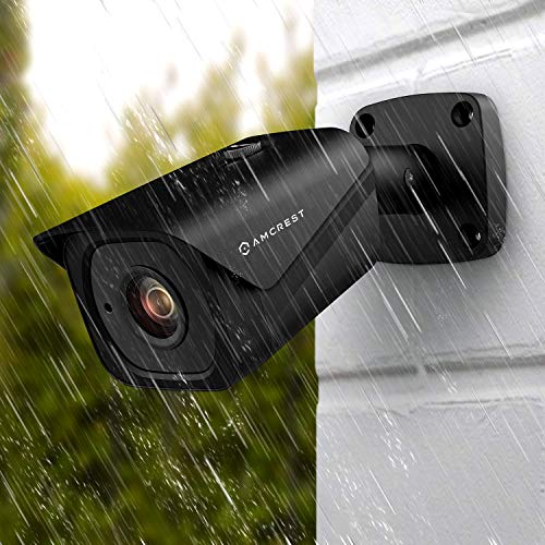 Amcrest UltraHD 4K (8MP) Outdoor Bullet POE IP Camera, 3840x2160, 131ft NightVision, 4.0mm Narrower Angle Lens, IP67 Weatherproof, 88° Viewing Angle, MicroSD Recording, Black (IP8M-2496EB-40MM)