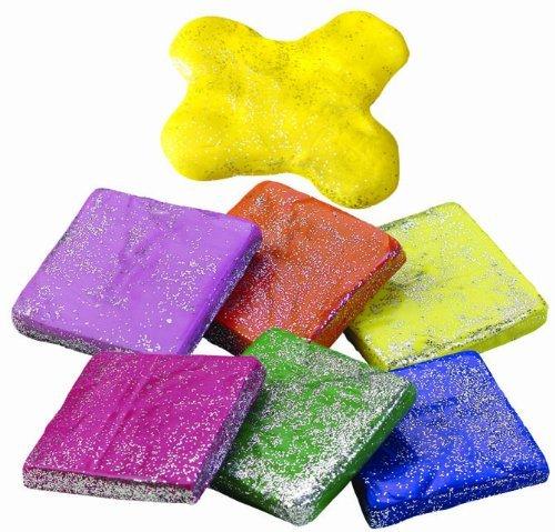 Glitter Kneadable Eraser, 36 count tub (Eraser Tub)