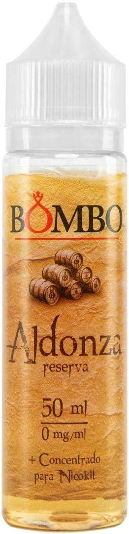 E-liquid BOMBO ALDONZA 50ML CONCENTRADO 0MG – mezcla de tabacos selectos y las mejores vainillas maceradas en barrica de roble americano, TPD,para Cigarrillos Electrónicos,sin nicotina.