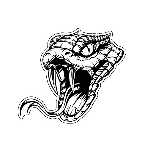 WickedGoodz Rattlesnake Snake Head Vinyl Decal - Wildlife Bumper Sticker - Perfect for Laptops Tumblers Windows Cars Trucks Walls Cups