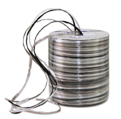 Präsent 50-m-Spule RAFFIA-PEARL-Multicolour - Dekobastband, silber/bunt