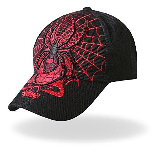 (Hot Leathers Widow Ball Cap (Black))