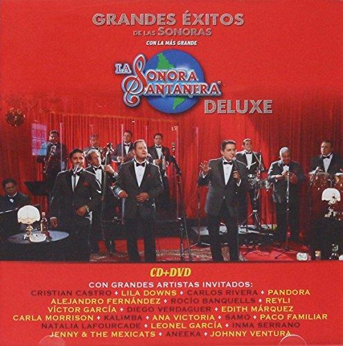 """Price comparison product image LA SONORA SANTANERA """"DELUXE"""" CD + DVD [GRANDES EXITOS CON GRANDES ARTISTAS INVITADOS] LILA DOWNS, ROCIO BANQUELLS, DIEGO VERDAGUER, VICTOR GARCIA, PANDORA Y MAS......"""