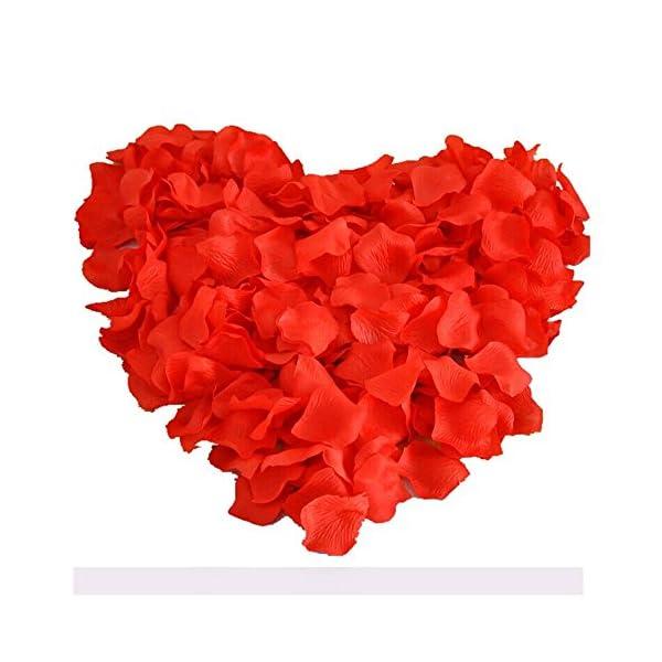 UGE 4000 PCS Artificial Silk Rose Petals Carpet Flowers Bulk for Wedding Favor Party Decoration (Red)
